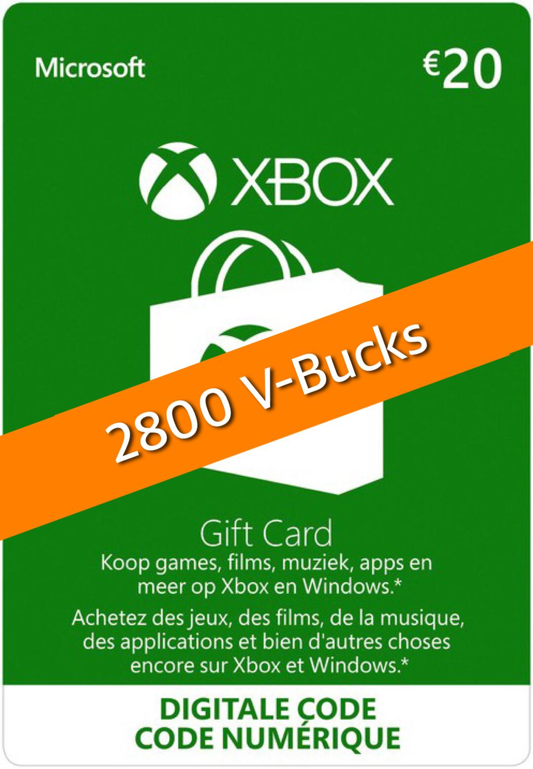 2800 Xbox Fortnite V-Bucks