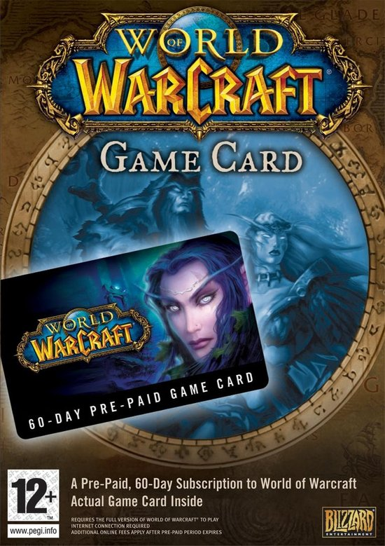 World of Warcraft 60 dagen Game Card