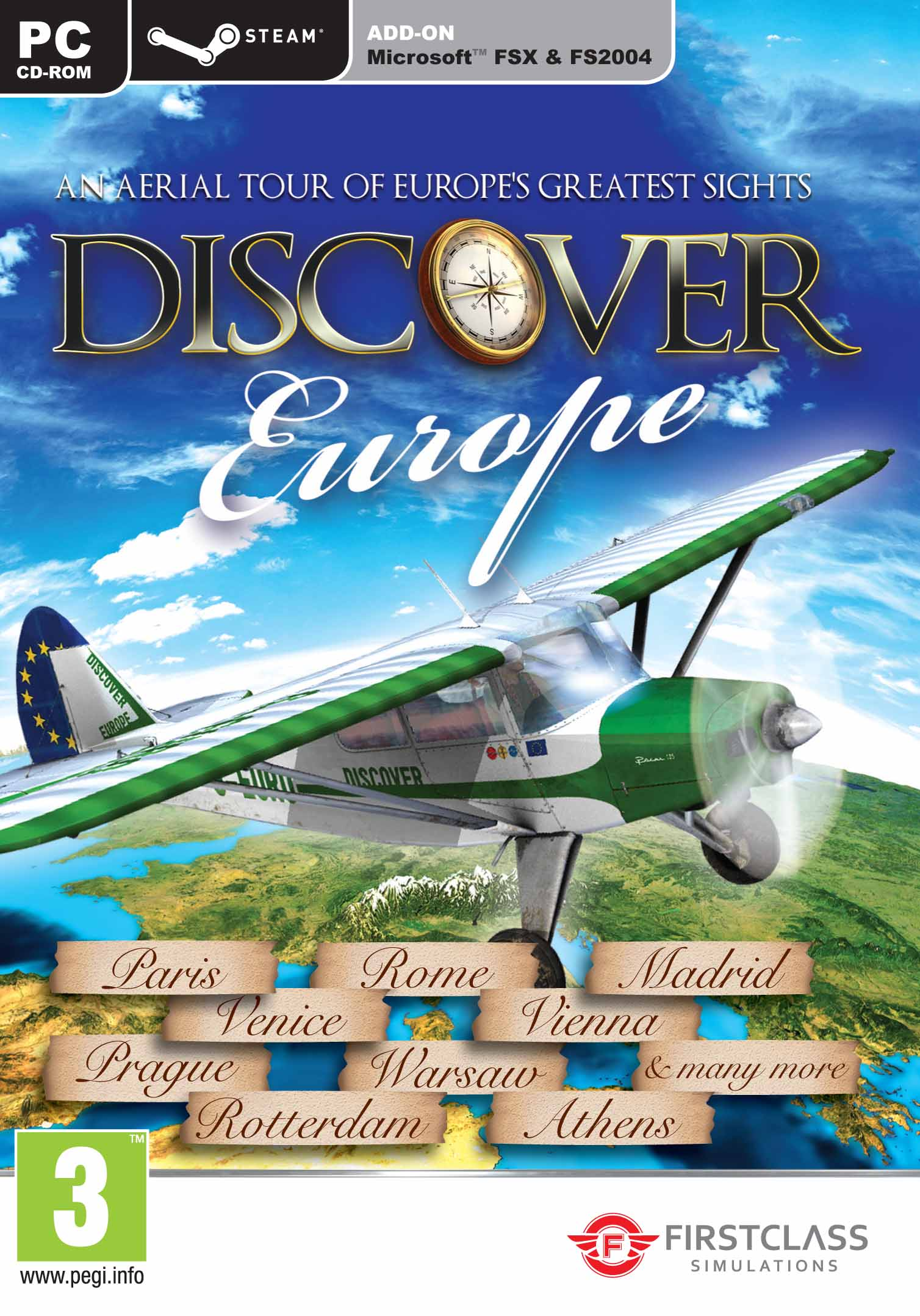 Discover Europe - FS X + FS 2004 Add-On - Steam Edition