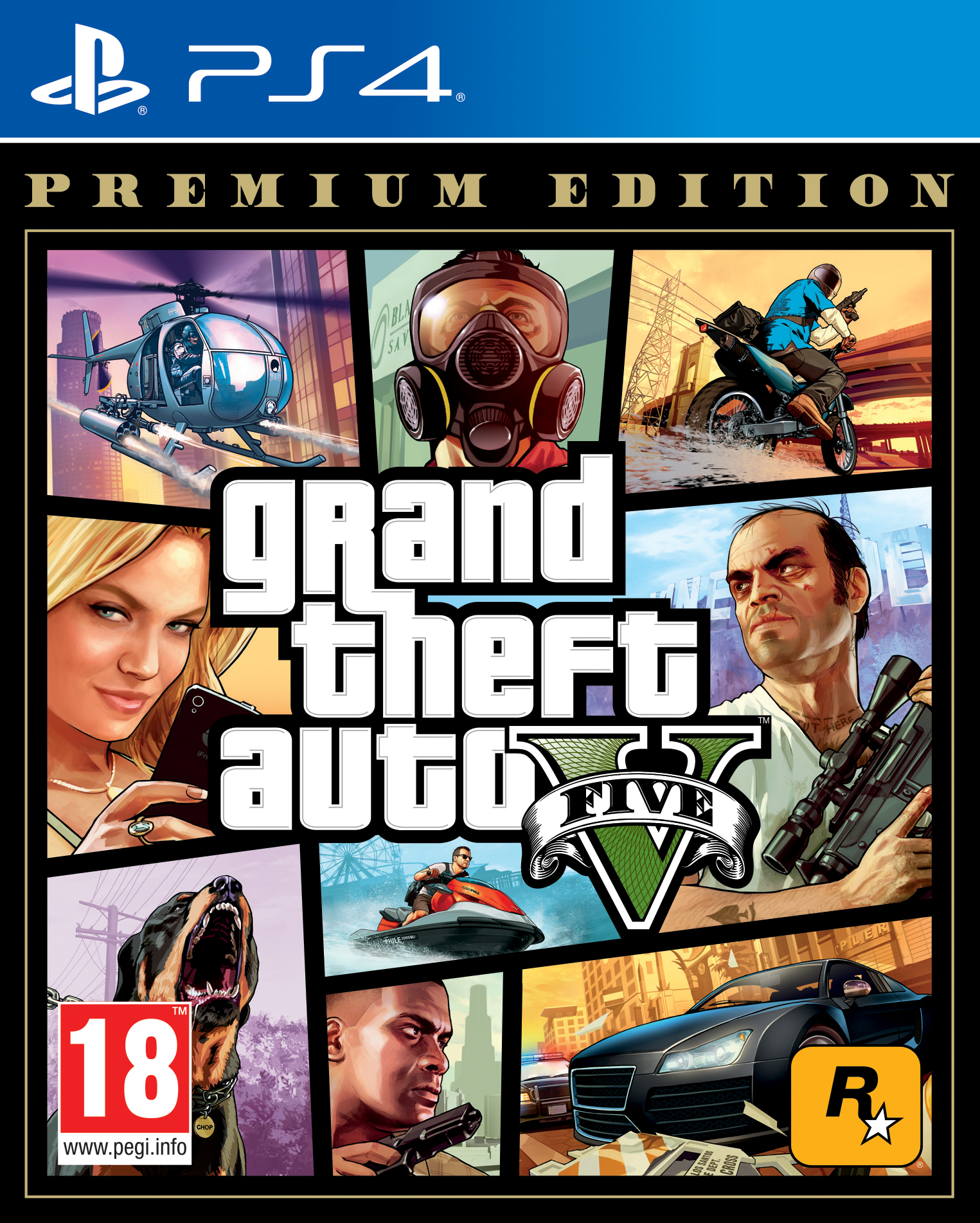 Grand Theft Auto 5 (GTA V): Premium Edition - PS4 (Fysieke Game)