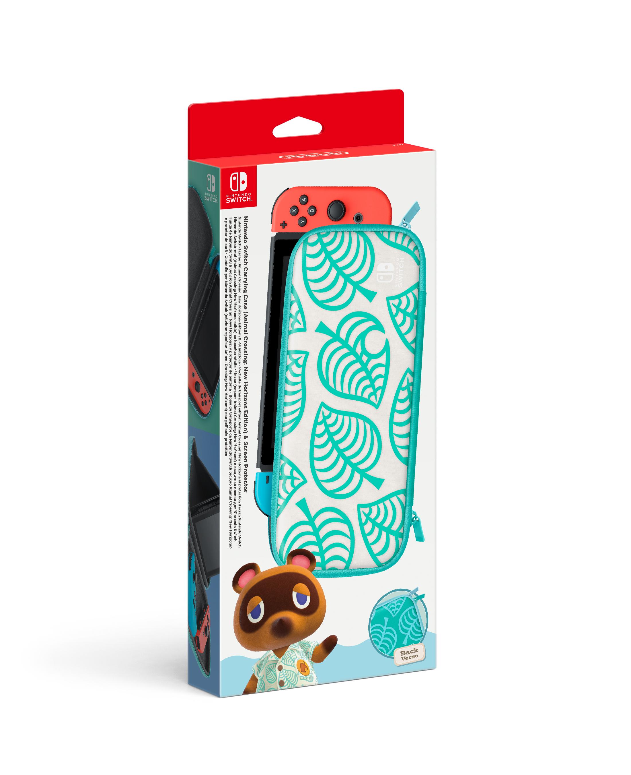 Nintendo Switch Console Case + Screen Protector: Animal Crossing - Groen