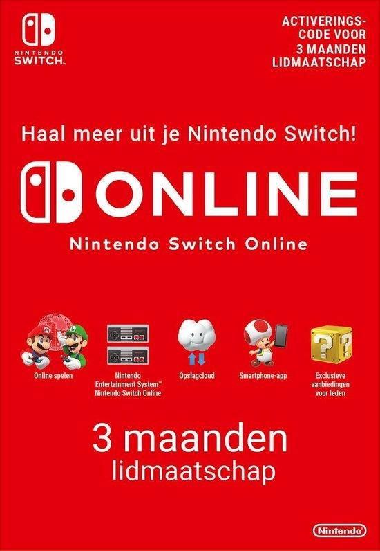3 Maanden lidmaatschap bij Nintendo Switch Online (Europa)