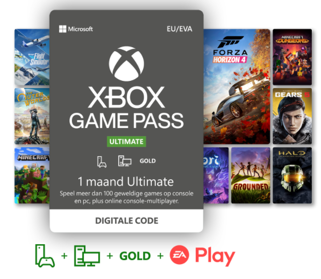 Xbox Game Pass Ultimate 1 Maand - GamesDirect®