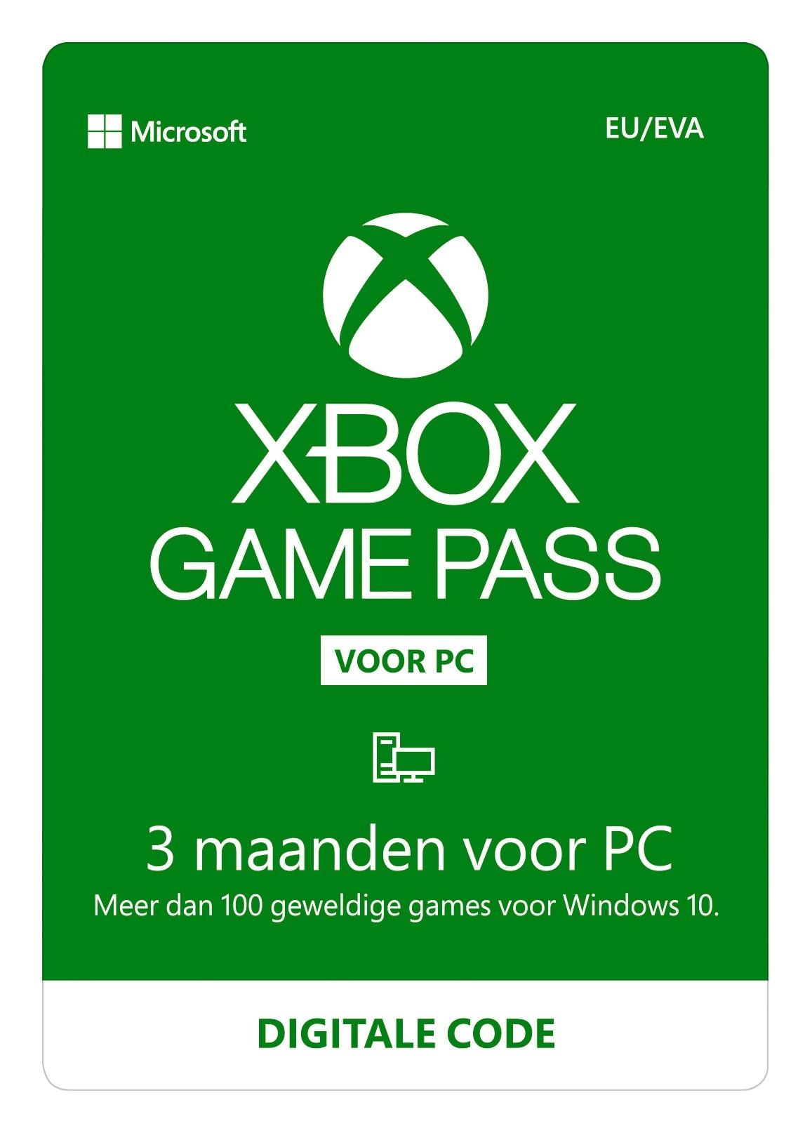 Xbox Game Pass voor PC 3 maanden