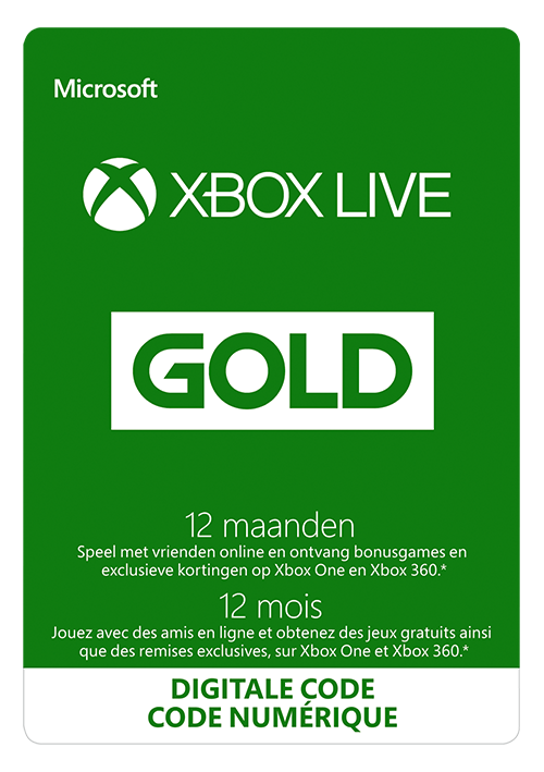 Xbox Live Gold 12 maanden EU