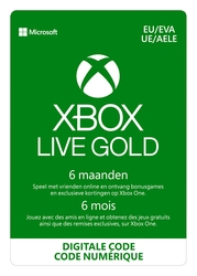 Xbox Live Gold 6 maanden EU