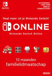 12 Maanden lidmaatschap bij Nintendo Switch Online (Familie)